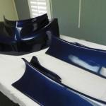 Racing Go-cart in Blue Carbonfiber