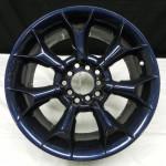 Wheel in blue carbon fiber